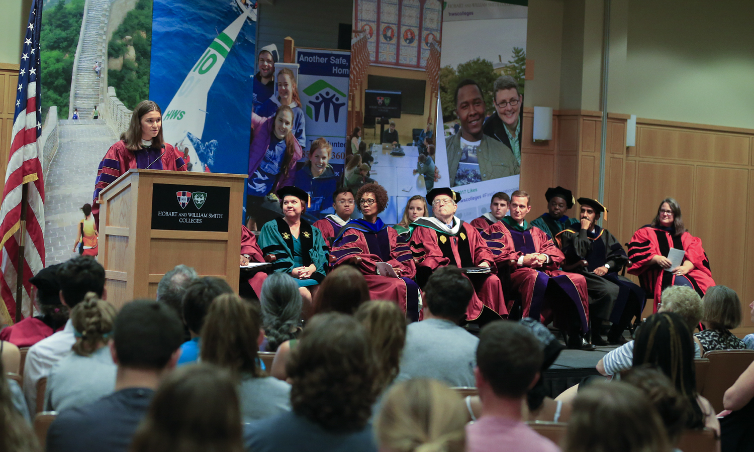 Student Trustee Caitlin Lasher '19 describes how her experiences at HWS prepared her to overcome obstacles and pursue new adventures during her Convocation 2018 remarks.