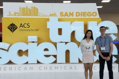 Students in Assistant Professor of Chemistry Elana Stennett's research group, Noah Kilmer 'xx and Yating âSherryâ Zhang 'xx, pose at the Fall 2019 National American Chemical Society Meeting and Expo. Students presented their research at the Environmental Chemistry Division Poster Session.