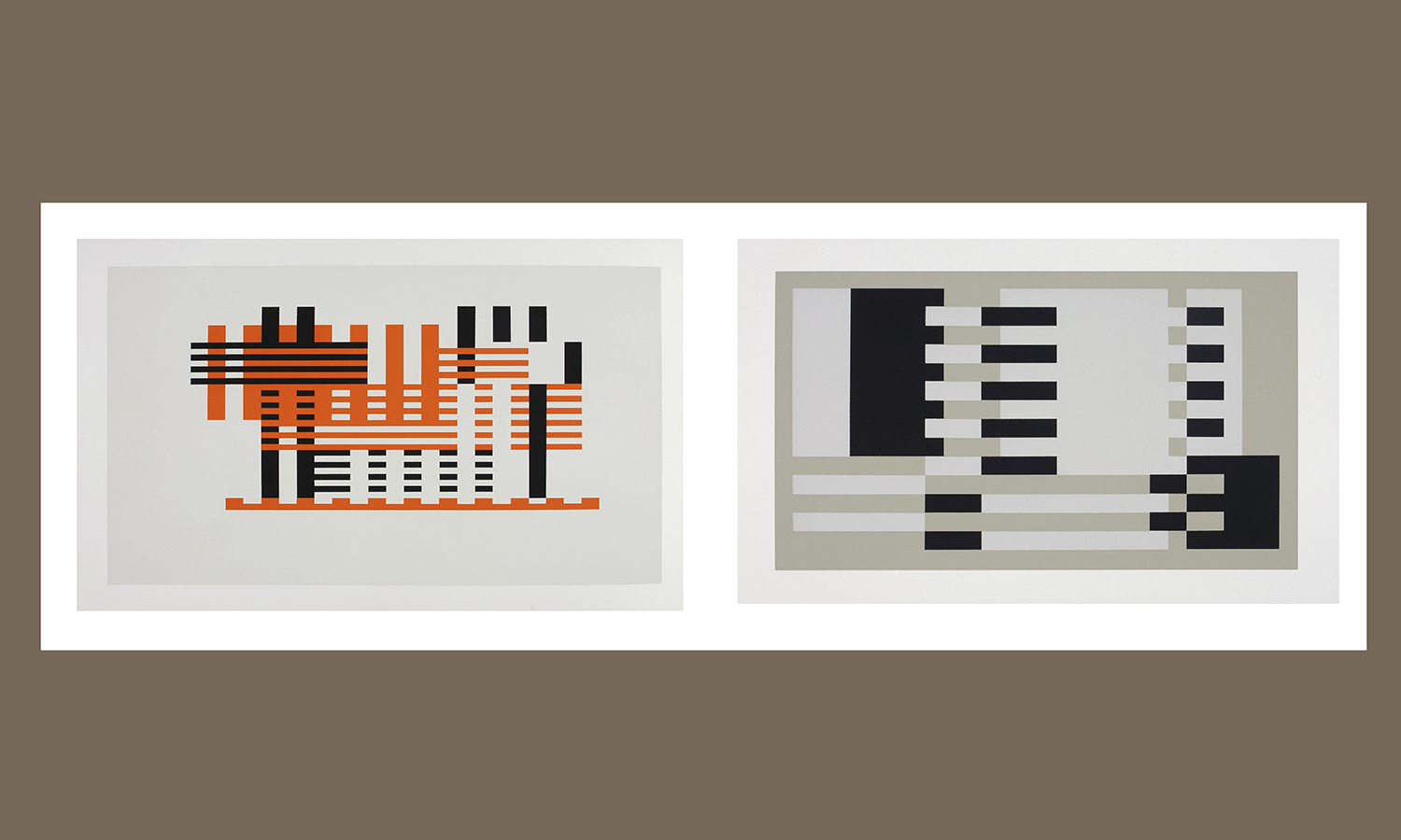 """Formulation: Articulation, II:31, 1972.""""Screenprint, 38 x 102 cm. Gift of  Mr. and Mrs. William E. Welsh, Jr. P'84. hws-a-253. ©2012 The Josef  and Anni Albers Foundation I Artists Rights Society, New York (ARSNY)""""1?Sonfist, Alan, Wolfgang Becker, and Robert Rosenblum.  Nature, the End of Art:""""Environmental Landscapes.( Gli ori, Florence, Italy; New York, NY, 2004), 14. """