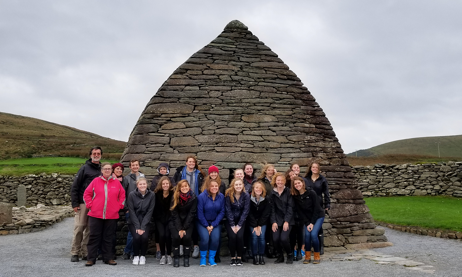 Ireland Fall 2017 Term Abroad - Gallarus Oratory (Unmortared Early Christian Church) on Dingle Peninsula copy
