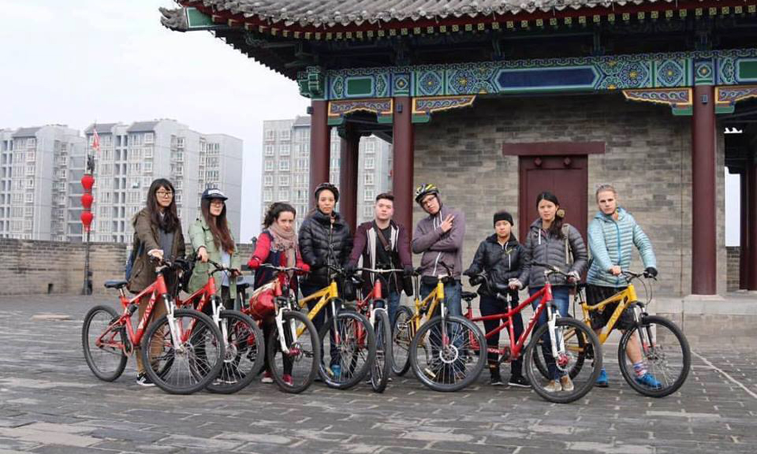 Check out this really tough looking group of bike riders! Gabbie Grimmett and her friends pose for a photo before going on a bike ride during her semester abroad in China!