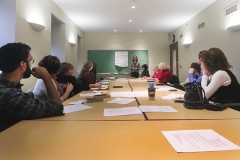 Members from the Service-Learning Advisory Council and HWS Community Advisory Council met to discuss and draft a position statement on authentic partnership.  Members met in small groups to review resources from the Campus Compact and Community-Campus Partnership for Health, and share ideas about what next steps in the process should entail, anyone wishing to join the conversation is enthusiastically welcome.