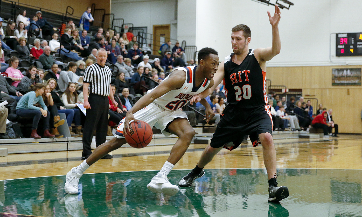The Hobart College basketball team shot 53 percent from the field, posted a season-high 16 steals, and got a game-high 28 points from sophomore Jamal Lucas in an 88-73 Liberty League win over Rochester Institute of Technology tonight.