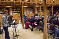Students and faculty perform love and anti love music and readings in the Blackwell room