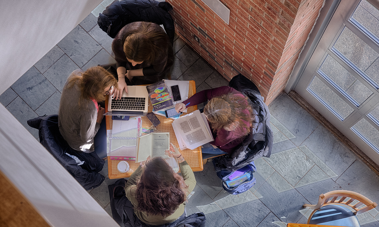 Students study in Cafe-0027