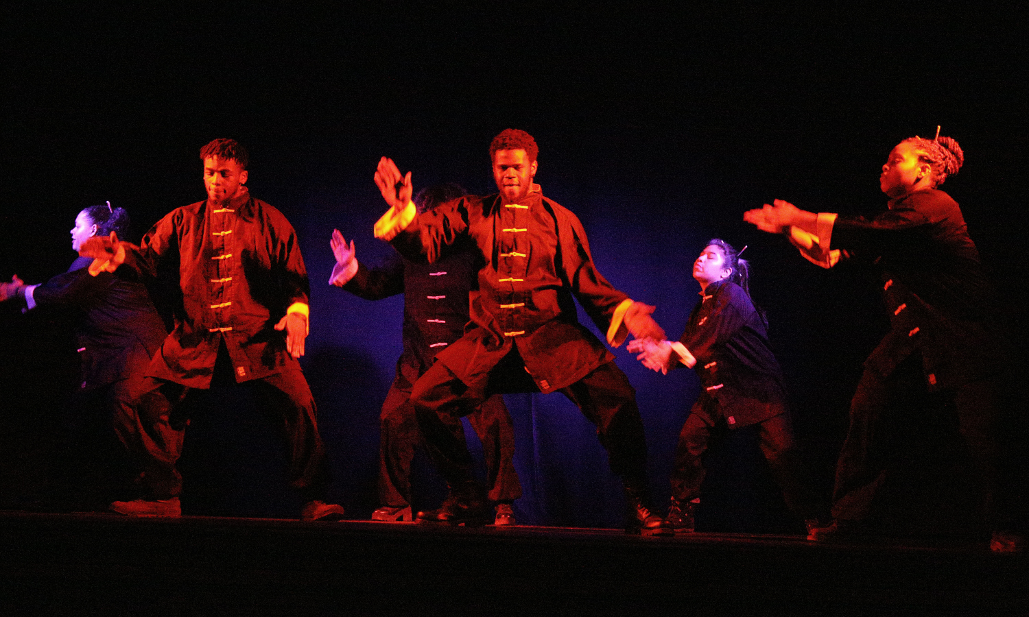 Members of the HWS HipNotiQs Dance and Step Team perform in Bartlett Theatre during the annual Lunar New Year Celebration.