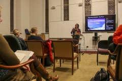 """Assistant Professor of Women's, Gender, and Sexuality Studies at Georgia State University Tiffany King discusses her book <i> Black Shoals: Offshore Formations of Black and Native Studies""""</i> at the Fisher Center."""