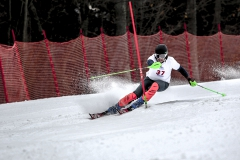 Danny McDonald 'X races in the slalom event during USCSA Nationals at Greek Peak Mountain Resort in Cortland, N.Y.