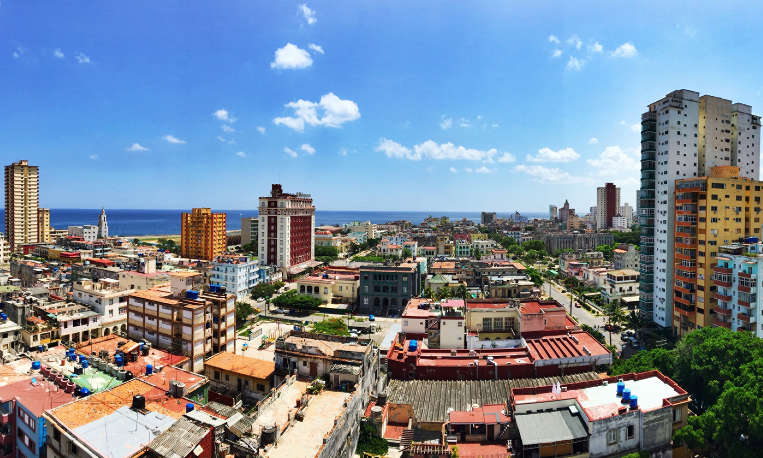 A panoramic view of Vedado, the neighborhood where the group stayed.