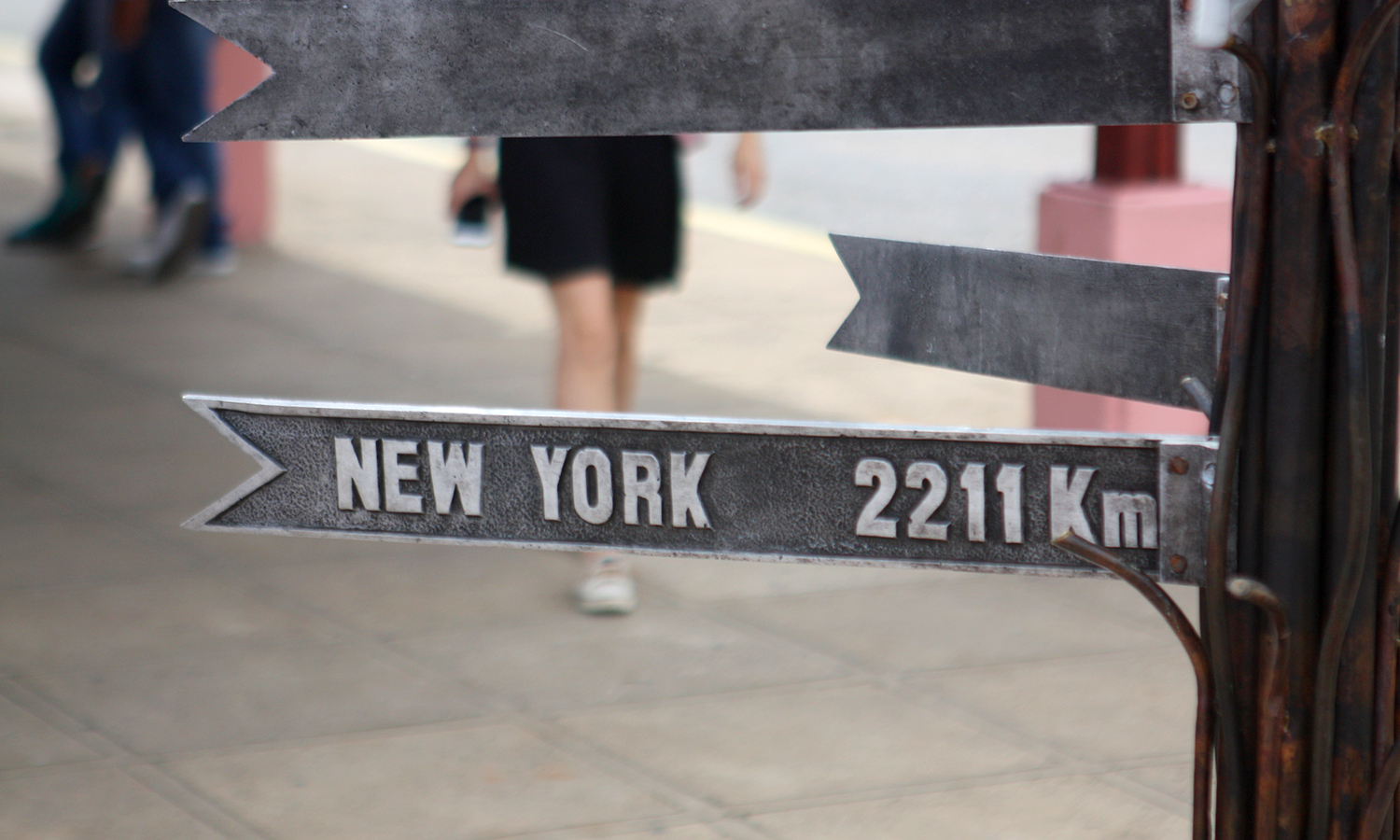 New York, NY, only 2211 kilometers from Havana, Cuba!