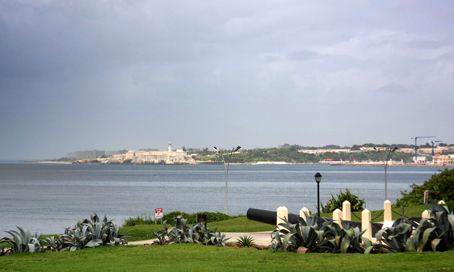 The Castillo De Los Tres Reyes Del Morro is spotted across the bay from Hotel Nacional de Cuba.