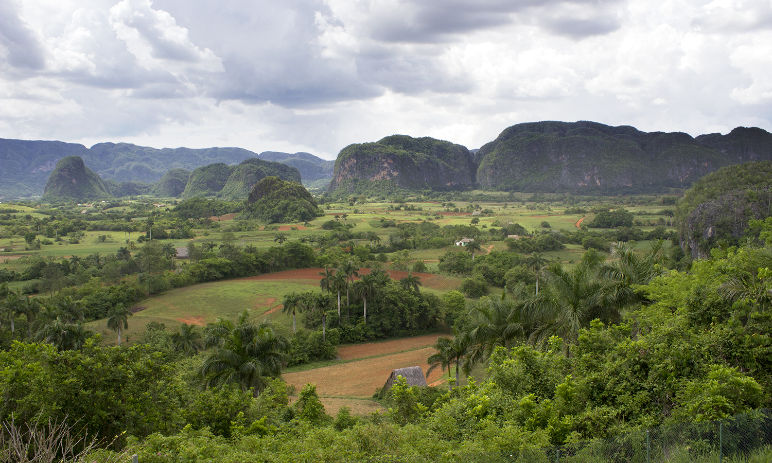 A picture of the beautiful mountains   surrounding the small town of Viñales in the province of Pinar del Rio, Cuba.