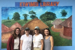 Sarah Banta â19, former HWS Trustee Carol Ulmer â72, Janet Selover Wulster â72 and Elizabeth Anderson â19 pose for a photo at with Kiwimbi International, a charity focused on supporting educational resources in rural Kenya and around the world.