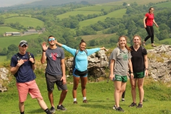Participants in the Wales program enjoy the surrounding beauty of the Welsh countryside.