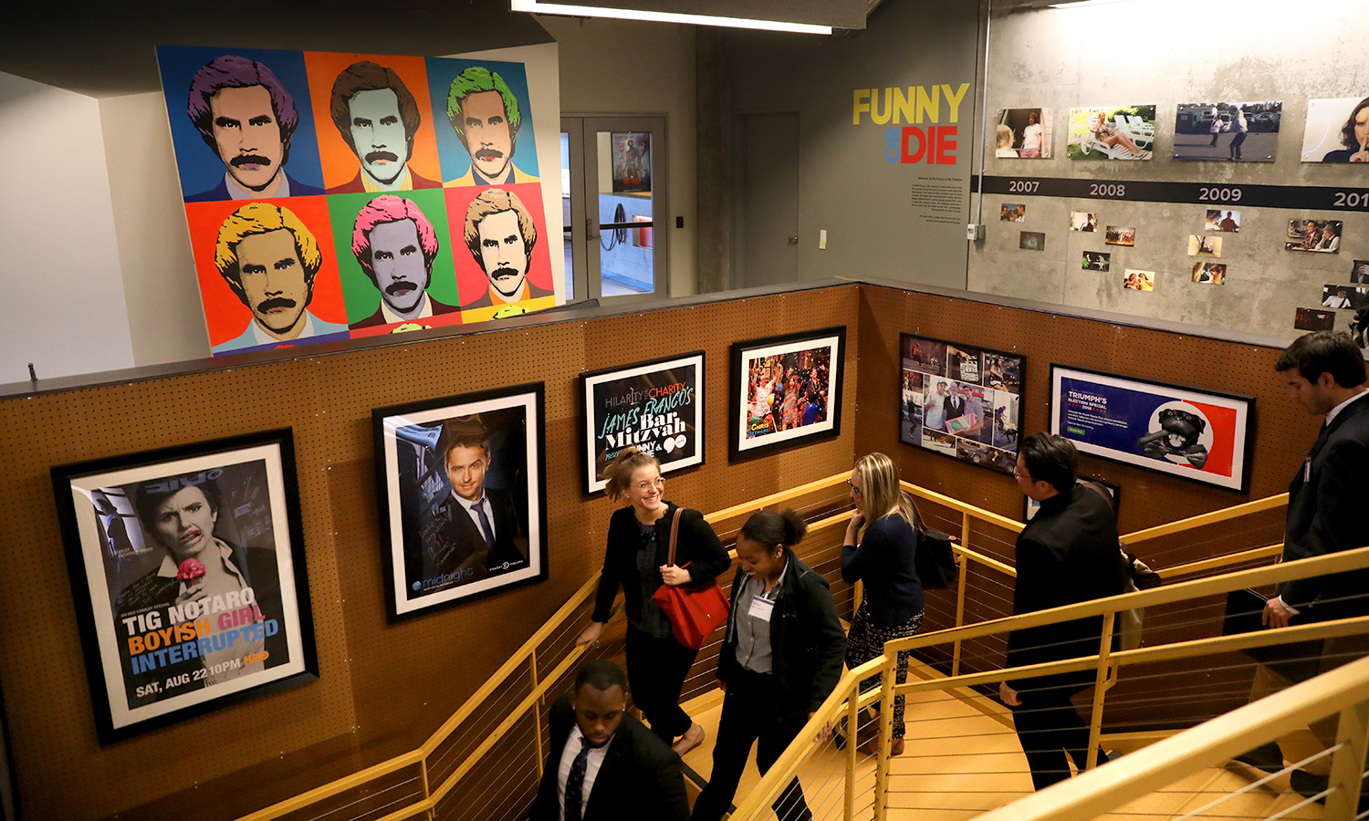 Funny or Die reception area, West Hollywood