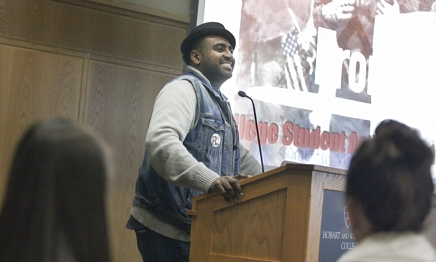 "Jonathan Berhanu opened the 6th annual Leadership Institute with his keynote address ""From Hope to Action: College Student Activism and the Pursuit of a Just World."""