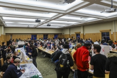 Students sign up to join clubs at the 2020 Involvement Expo.