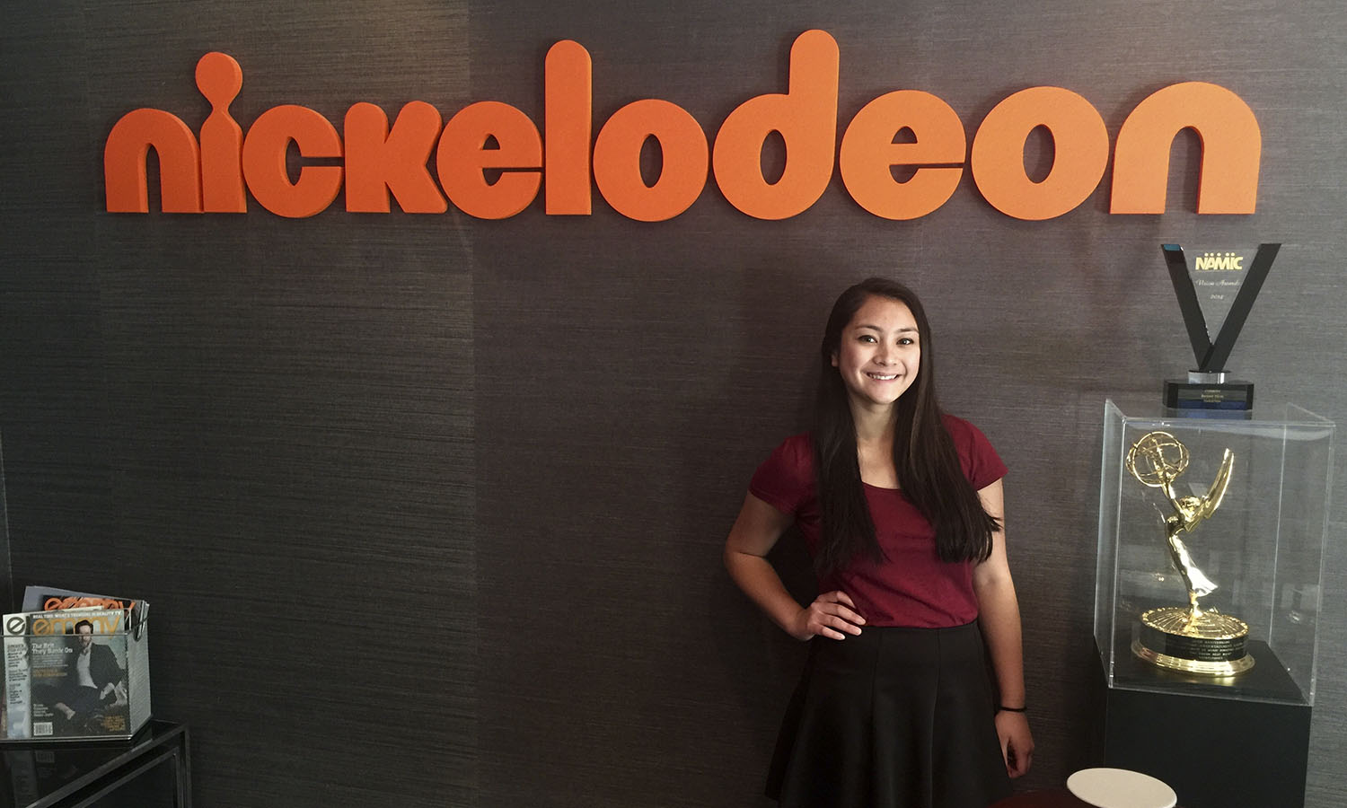 Gail Quintos '17 is working in the casting department of Nickelodeon as part of her internship with the Emmy Foundation in Los Angeles, Calif. this summer.