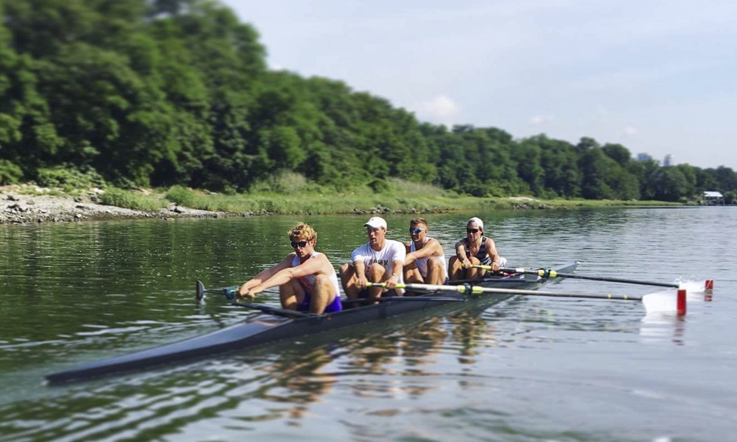 Austin Letorney '17, stroke seat, trains with the New York Athletic Club for the U.S. U23 World Championship Trials. The winner of the trials held July 18-22 will travel to Rotterdam, Netherlands to compete in the World Championships.