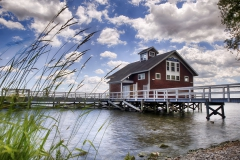 The Bozzuto Boathouse in the summer.