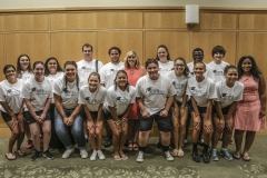 Students attend the Summer Academy Graduation Ceremony held in the Vandervort Room in Scandling Campus Center.