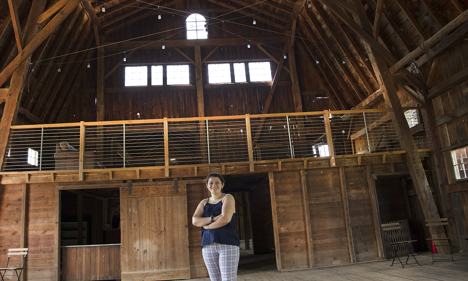 Having landed an internship with the North Farm in Geneva N.Y., Rachel Meller '21 is spending her summer executing large-scale events including weddings, special workshops, and private dinners for the venue. The facility, located on County Road 14, includes several restored barns and an organic farm.
