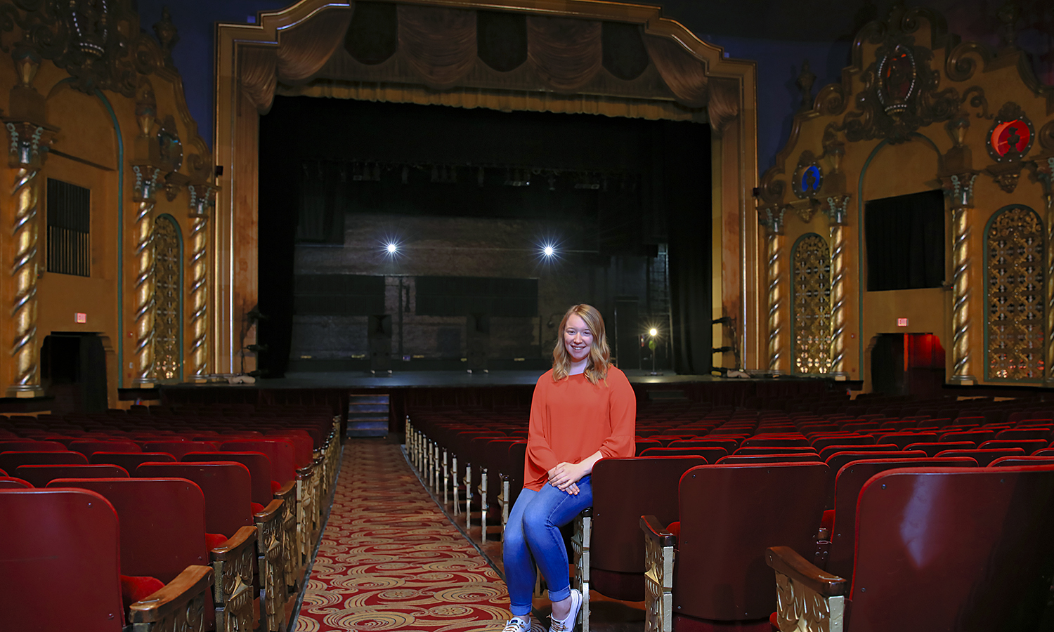 Isabella Siddall '21 interns with the Smith Opera House for the Performing Arts in downtown Geneva. This summer, Siddall will assist with customer relations, plan events and conduct operations for the venue.