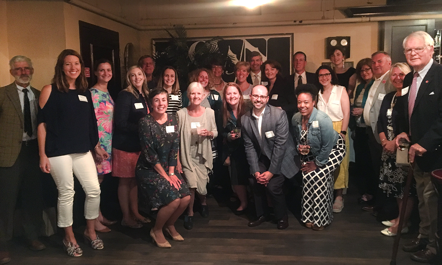 HWS alums gather for a photo during the Boston Pops Reception at Black Bay Social.