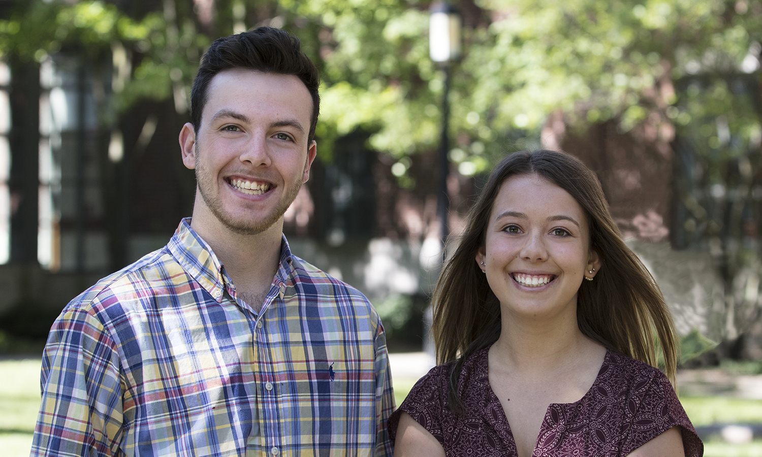 Orientation Coordinators, Tanner Arnold '20 and Miranda Smith '18, MAT '19