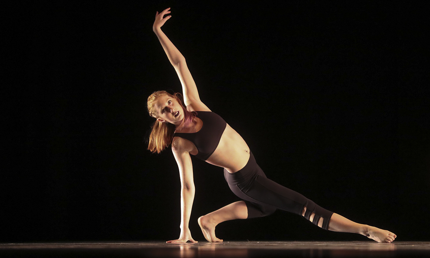 "Lily Heath '17 performs ""betwixt and between"" choreographed by Lily Cantral '19."
