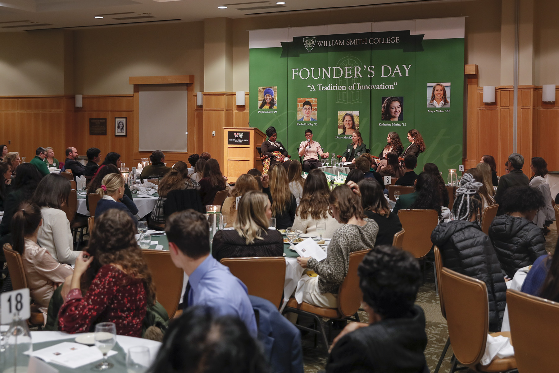 Maya Weber center on Founders-Day