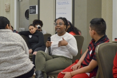Faith shared her opinion on the game of âAll in the Familyâ which was a game in which the students where put into groups of three and each student was one generation of a family. The goal of the game was for every one to go to high school, then college, get a job, and buy a house. Each team started with a different amount of money and had to strategize for each generation.