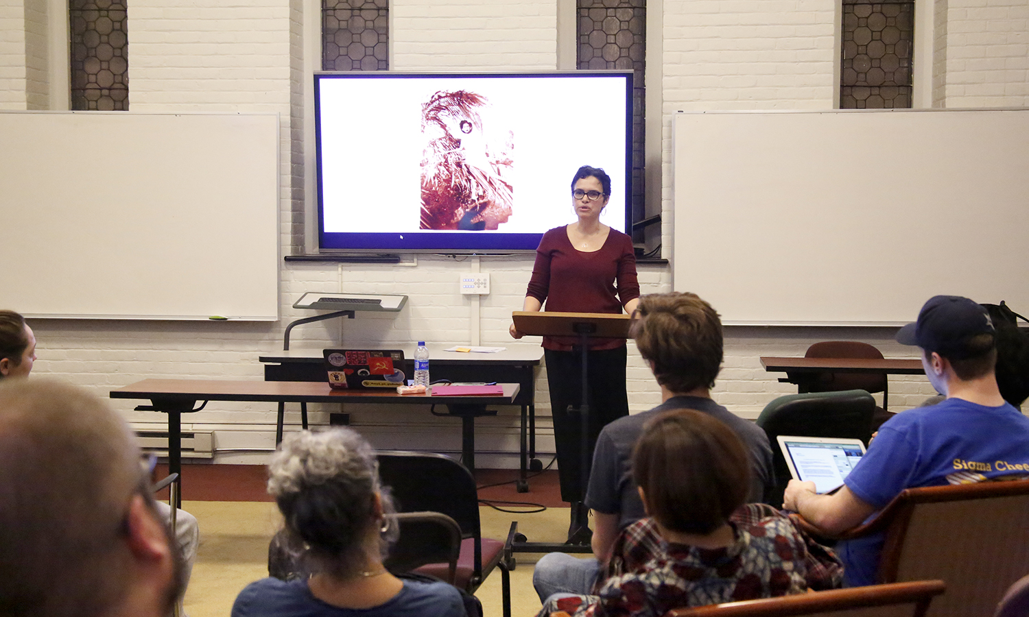 "Ada Ferrer, the Juilius Silver professor of history and latin american and caribbean studies at New York University, explores the connections between family stories of revolution and migration during her talk ""The Cuban Revolution: Families, Migration, and Recognition"" in the Fisher Center on"