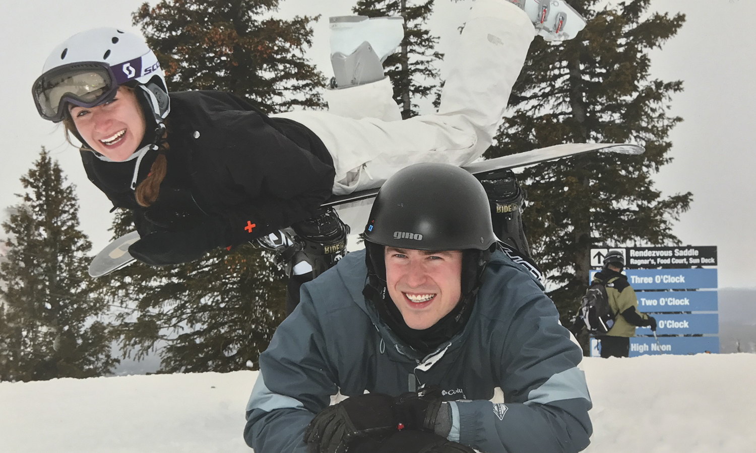 Kelly Mauch '17 and Benjamin Carr '16 hit the slopes at Steamboat Ski Resort in Steamboat Springs, CO.
