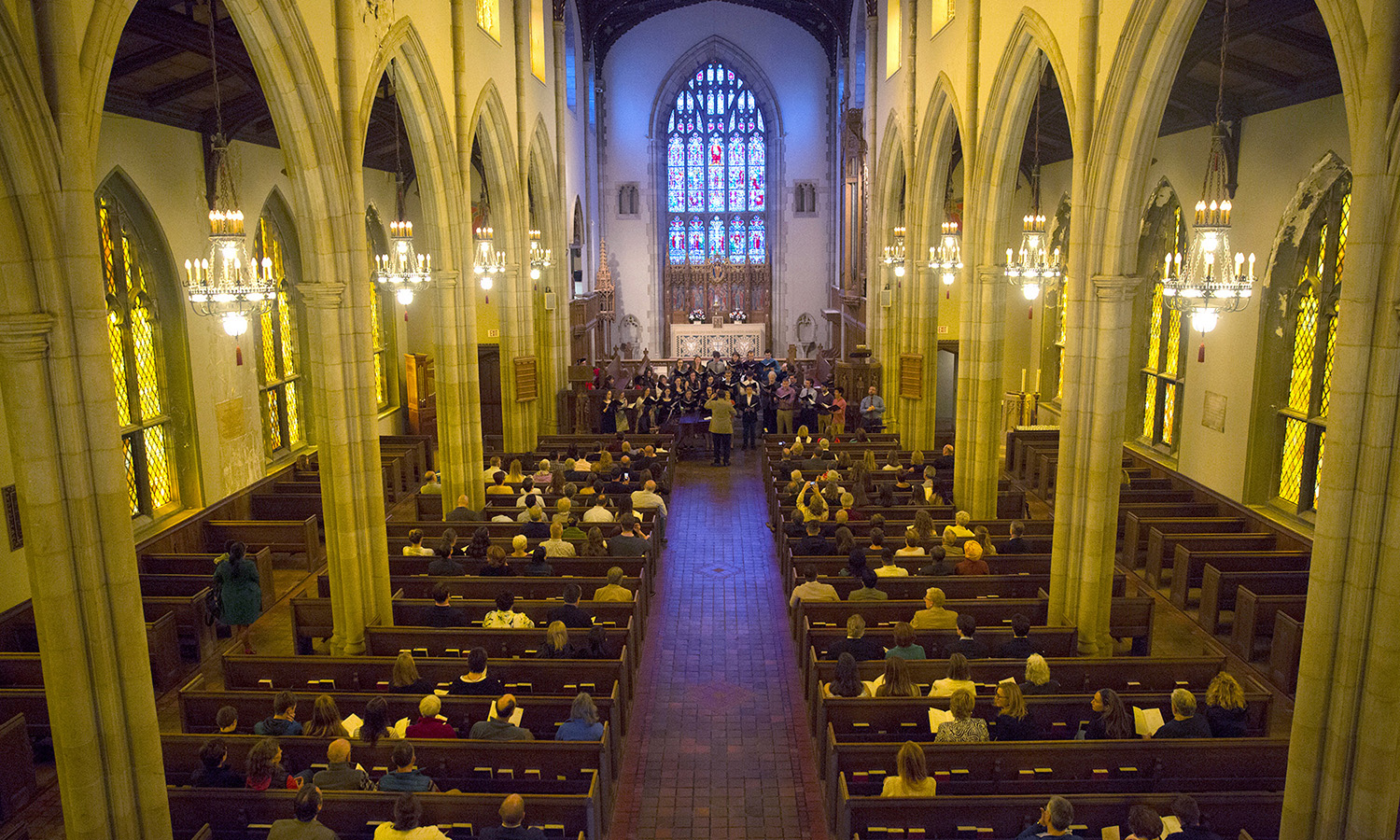 The 2017 Baccalaureate ceremony in Trinity Church. A tradition dating to eighth-century England, Baccalaureate has been celebrated by the HWS community for more than 180 years.