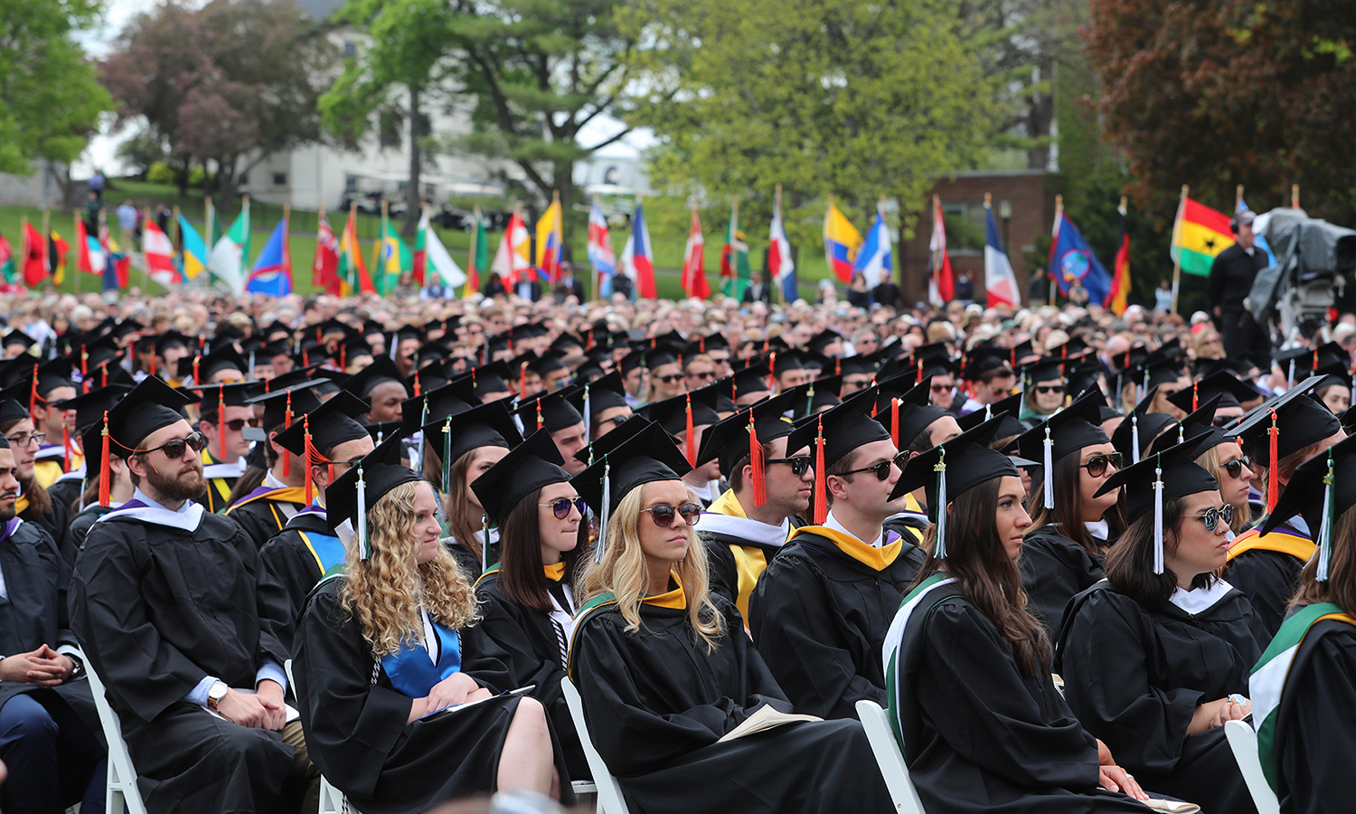 The Classes of 2017 listen to President Bill Clinton's Commencement Address during Commencement.