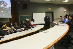 """In collaboration with the African American Men's Association, students serve on a panel on """"Personal Financing"""" for an audience of Geneva high school students."""