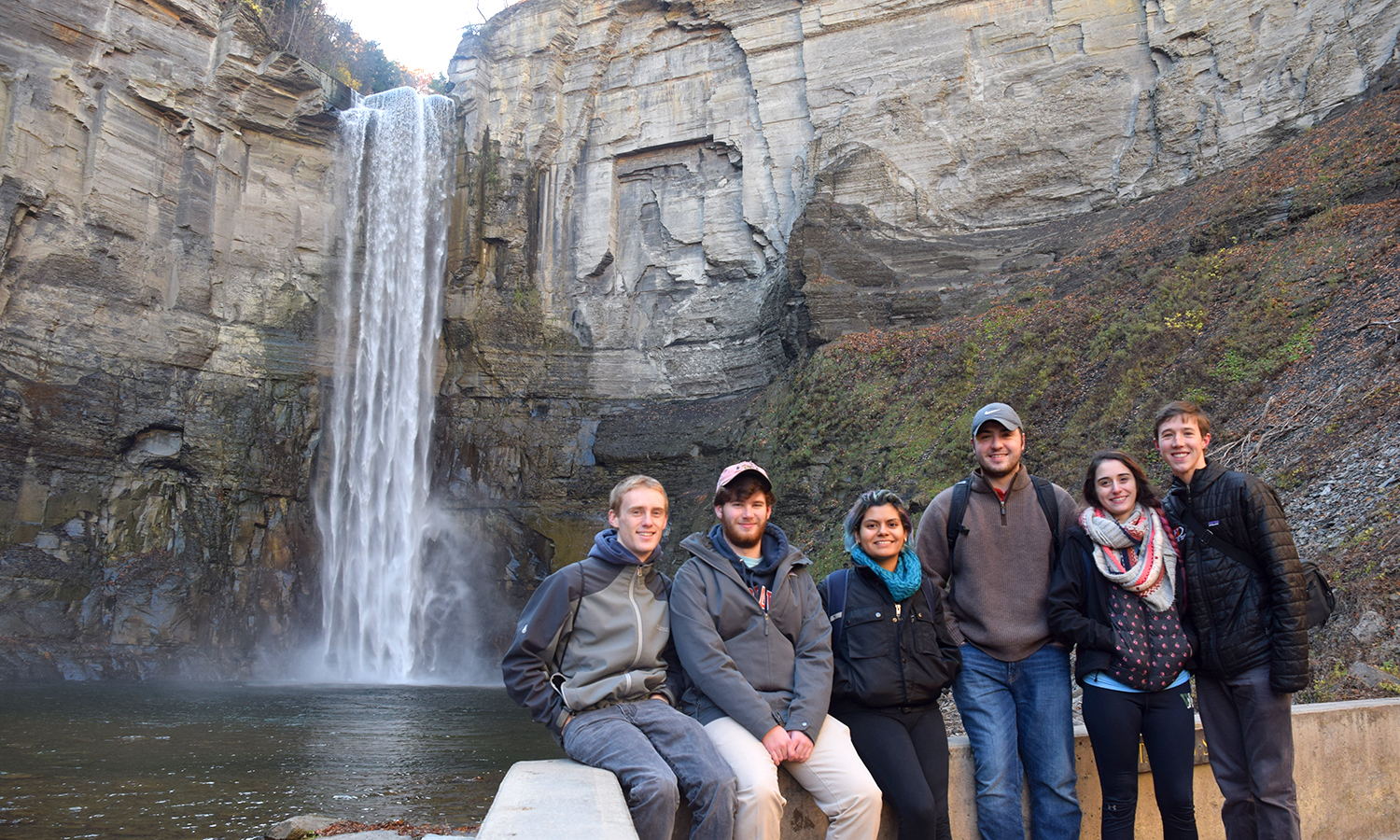 Here is a photo of the Geoscience Club at Taughannok Falls.  It is the tallest waterfall in the Northeast.
