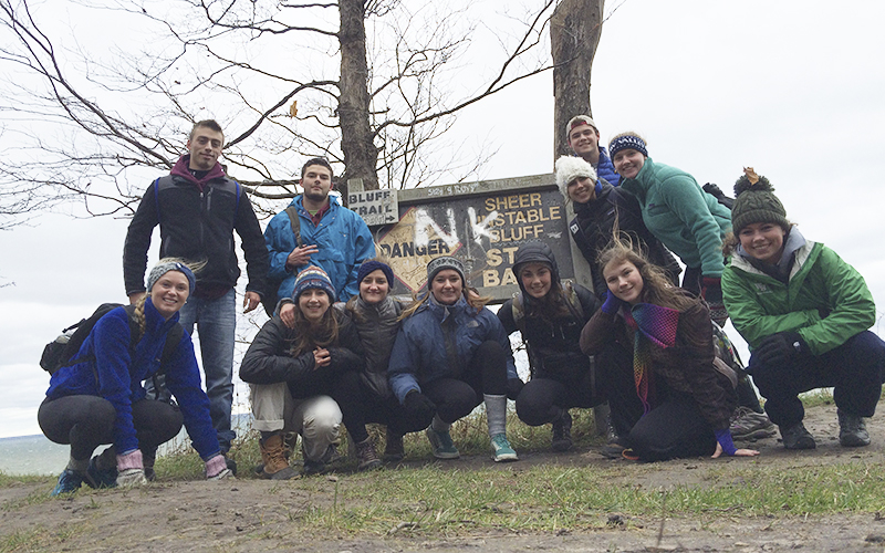 Hi Greg,I meant to send this photo on Sunday, but here is a group shot from an ORAP Day Trip led by myself and Kaila Fearey '16 to the Chimney Bluffs in Sodus, NY this past Saturday.ORAP was hoping this could be put in TWIP to advertise the club!