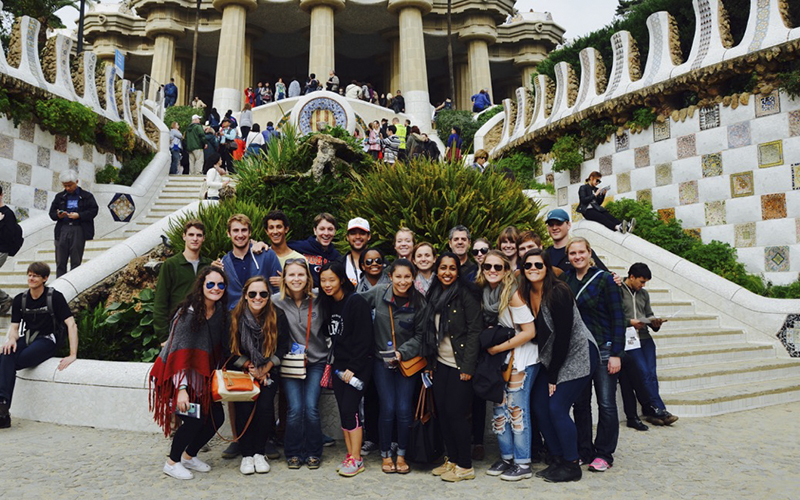 Hi Greg!Here is a photo of our group on our trip to Barcelona this weekend at the Park Guell, with our Professor, Juan Liebana.More pictures to come!