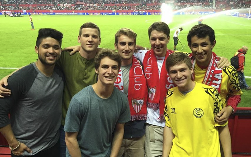 Sevilla Spain, Sevilla FC Soccer Game(Left-right)Grant Soucy, Keller Hickock, Jack Knorpp, Austin Letorney, Tyler Fuller, Michael Conroy, Jeremiah PiersanteThank you,Grant SoucyEl nov 3, 2015, a las 6:10 PM, Searles, Gregory <SEARLES@hws.edu> escribió: