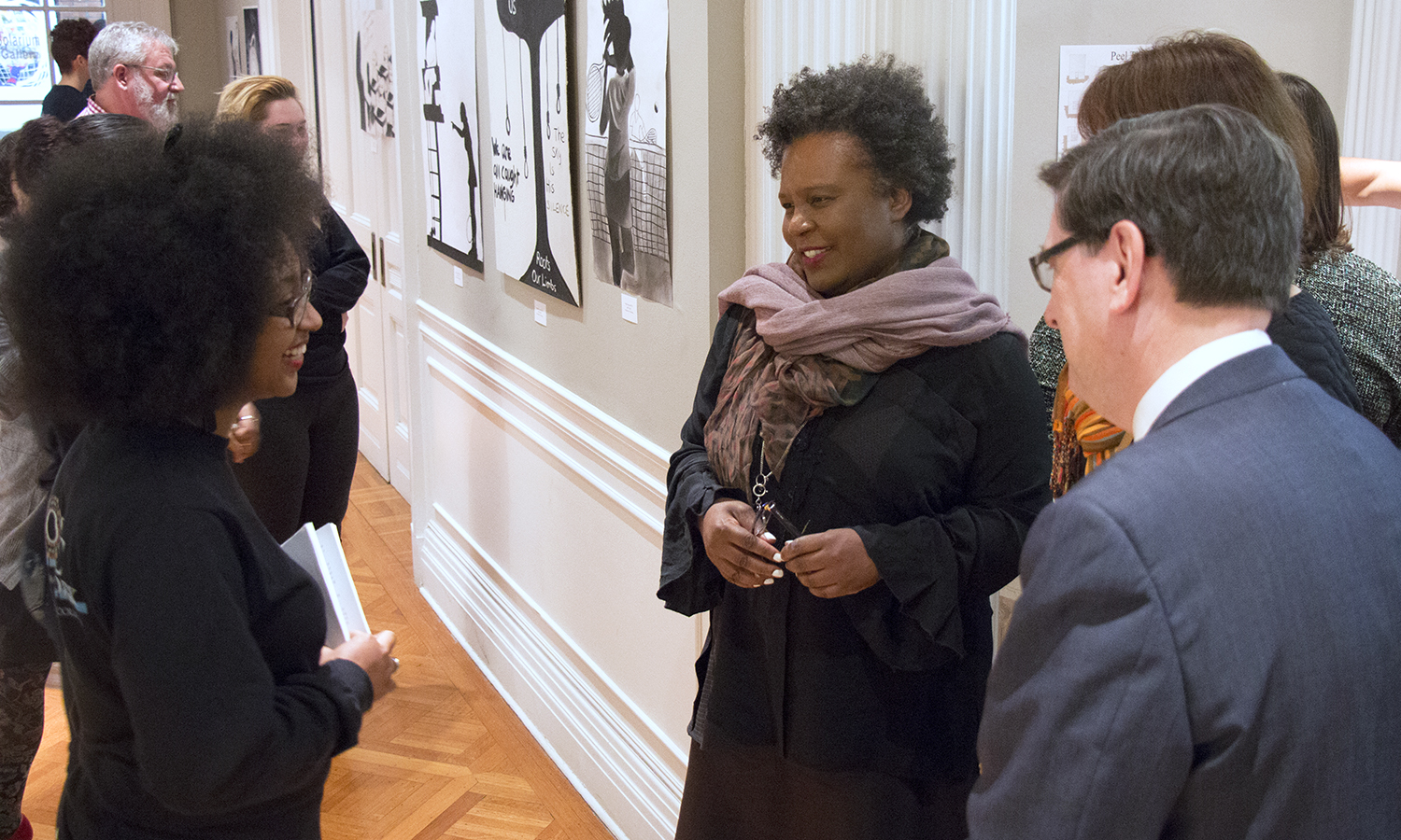Student Art exhibit exploring the themes from Citizen by Claudia Rankine. Also featuring work by visiting artist Stacey Robinson