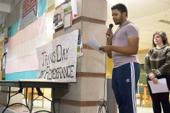 First organized in 1999 by Gwendolyn Ann Smith in Allston, Mass, HWS Pride Alliance holds a vigil for the 17th annual Transgender Day of Remembrance in memory of Rita Hester, a trans woman of color murdered the year before, in the Scandling Campus Center on Sunday.