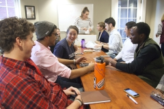 Home Group Leaders sat to discuss the plan of action in creating a more welcoming environment for those on campus as well as planning their annual conference.