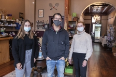 FLX Goods Interns. KColtonMaura McNamara â22 and Emma Nedeau â22 are interning this semester at FLX Goods, a new Geneva-based business owned by HWS alum Jim Cecere â91 that sells natural goods produced locally in the Finger Lakes region.
