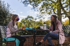 Students Sitting Outside Library 0011