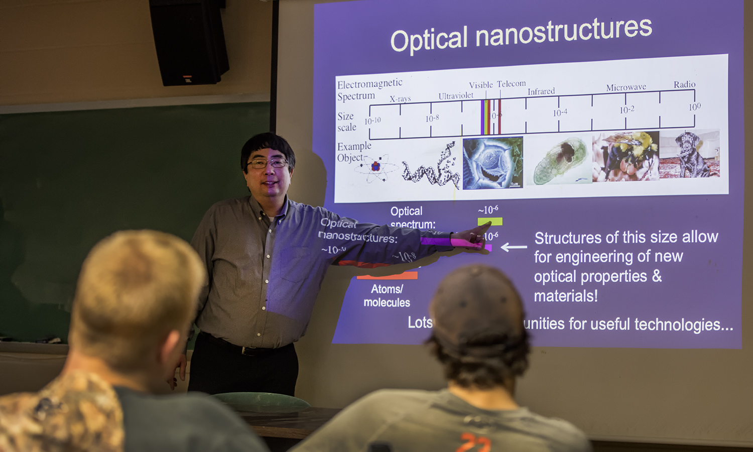 """Professor of Electrical and Computer Engineering at Montana State University Dr. Wataru Nakagawa highlights a new NSF Research Experience for Undergraduates titled, """"REU Site: Observing our world with light and sound"""". The research activities are highly interdisciplinary, and Dr. Nakagawa's research group focuses on the design, fabrication, characterizations and applications of novel optical devices based on nano-structures in silicon and other materials."""