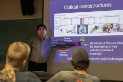 """Professor of Electrical and Computer Engineering at Montana State University Dr. Wataru Nakagawa highlights a new NSF Research Experience for Undergraduates titled, """"REU Site: Observing our world with light and soundâ. The research activities are highly interdisciplinary, and Dr. Nakagawa's research group focuses on the design, fabrication, characterizations and applications of novel optical devices based on nano-structures in silicon and other materials.â"""
