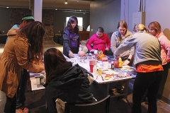 Big Brothers and Big Sisters club at HWS gets together in the Barn to decorate pumpkins for the upcoming holiday!