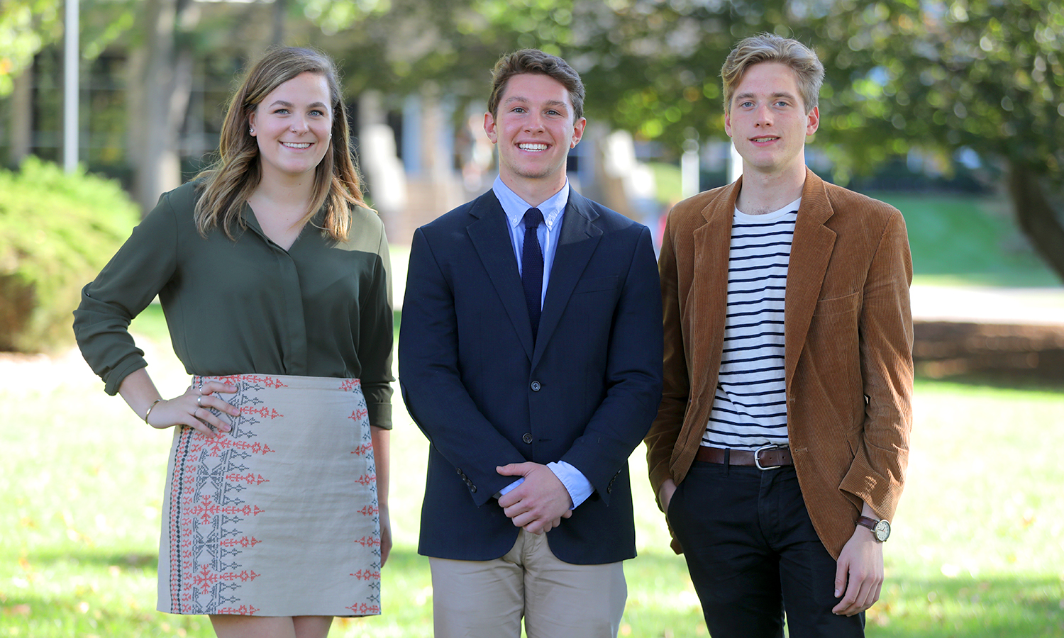 Sasha Carey 'X, Dylan Morris 'X and Alec Rhodes 'X attend the 65th Annual Meeting of the New York State Sociological Association held at St. John Fisher College to present their research.  Each is working on an Honors project(?) with Associate Professor of Sociology Renee Monson.